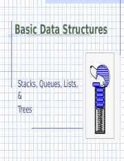 Chapter 2 Stacks Queues Lists Trees