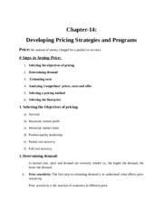 Chapter 14pricing