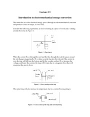 11 Introduction to electromechanical energy conversion