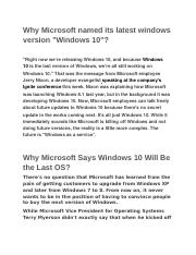 Why Microsoft named its latest windows version