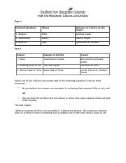 HUM 100 Worksheet Cultures and Artifacts.pdf