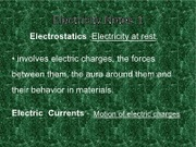 Electricity Notes 1