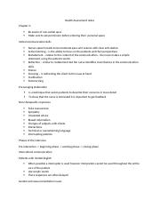 Health Assessment notes chapter 2-7.docx