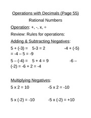 Lesson 2 - Operations with Decimals