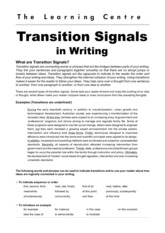Transition signals in writing(1)