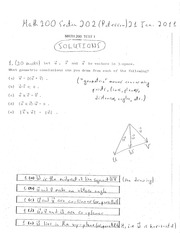 Math 200 Section 202 Midterm #1 Solutions