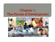 Ch 1 Nature of Development and Theories - BB