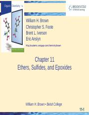 Ch 11 Ethers, Sulfides and Epoxides.ppt