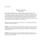 Huddleston v. United States case brief