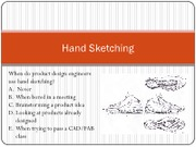 Lecture 6 - Hand sketching