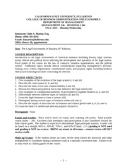 BUSINESS LAW COURSE SYLLABUS - FALL 2015 (1)