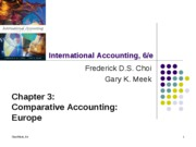 Comparative Accounting: Europe