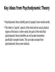 Key Ideas from Psychodynamic Theory.pptx