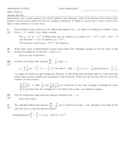 Quiz B Solutions on Introduction to Ordinary Differential Equations
