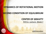 PHY11 Week 7 2ND Condition of Equilibrium