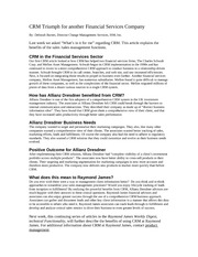 CRM Article #7 Industry Related article