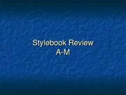 AP Stylebook Review A-M
