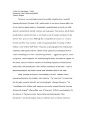 a thesis on paparazzi  trees, vegas neon, roses blooming, police, paparazzi, the stars and  years  before social media would lend a new dimension to his thesis,.