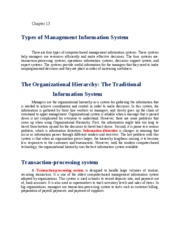 Chapter 13 Management info systems