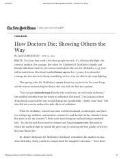 How Doctors Die_ Showing Others the Way - The New York Times