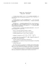 Math 110 - Spring 2000 - Brown - Final