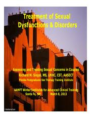 TreatmentOfSexualDysfunctions&Disorders_PPt