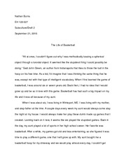 persuasive essay basketball is my life basketball gives me  4 pages subculture essay