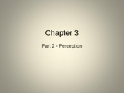 Chapter 3 Part 2 Perception Student Version