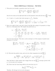 MATH 10560 Fall 2012 Exam 2 Solutions