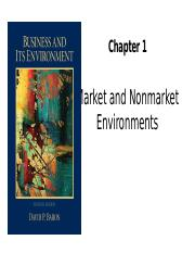 Ch.1 Market and Nonmarket Environments
