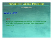 BIOL 3830 1 Animal Physiology - Foundations of Physiology