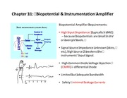 Chapter 11 - Biopotential Instrumentation Amp