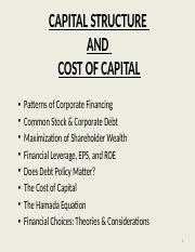 Capital Structure & Cost of Capital.pptx