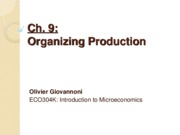 Ch 9 - Organizing production