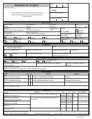 Solicitud De Empleo Para Imprimir Pdf Solicitud De Empleo