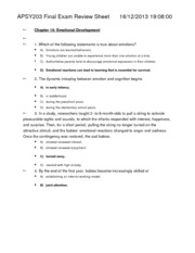APSY203 Final Exam Review Sheet