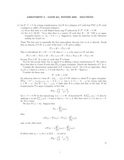 MATH 251 Assignment 8 Solutions
