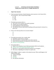 Sample Questions Test 3