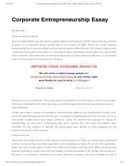 Essays About English Luminar Corporate Entrepreneurship Essay Example  Topics Sample Papers   Articles Online For Free  Corporate Entrepreneurship Essay Example  Personal Essay Examples High School also Essay Writing Format For High School Students Luminar Corporate Entrepreneurship Essay Example  Topics Sample  English As A Second Language Essay