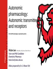 CSA236 12 Autonomic transmitters and receptors (Victor 2018).pptx