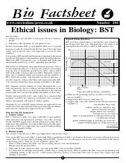 204 Ethical issues in Biology - BST