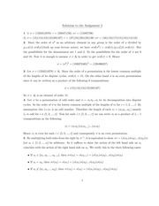 MATH 3E03 Fall 2010 Assignment 2 Solutions