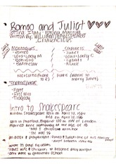 romeo and juliet, shakespeare notes