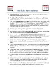 Weekly Procedures(1)