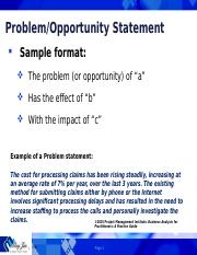 Problem Statement and HLR Templates