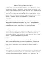 What are some features of academic writers.edited.docx