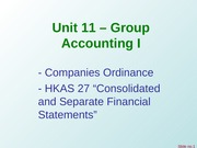 Unit 11 - Group Accounts I - v3