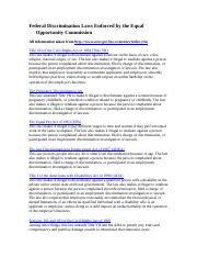 Federal Discrimination Laws Enforced by Equal Employment Opportunity Commission  2010-1_1.doc