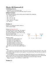 Physics 106 Homework2