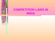Competition Laws in India